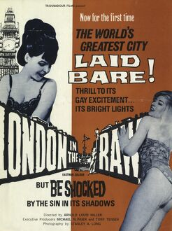 Poster for Arnold Louis Miller's London in the Raw (1964)