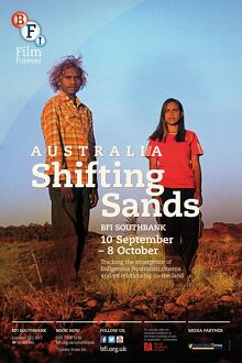 Poster for AUSTRALIA Shifting Sands Season at BFI Southbank (10 September - 8 October 2013)