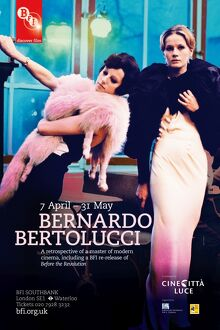 Poster for Bernardo Bertolucci Season at BFI Southbank (7 April - 31 may 2011)