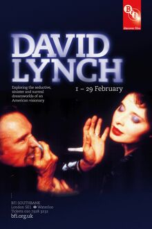 Poster for David Lynch Season at BFI Southbank (1 - 29 Feb 2012)