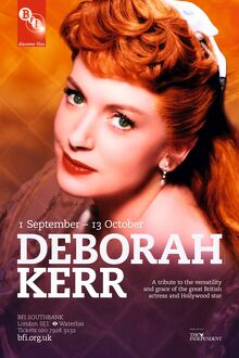 Poster for Deborah Kerr Season at BFI Southbank (1 September - 13 October 2010)