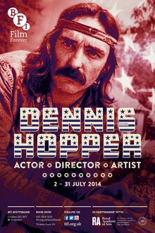 Poster for Dennis Hopper Season at BFI Southbank (2 - 31 July 2014)