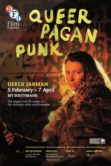 Poster for Derek Jarman Season at BFI Southbank (5 February - 7 April 2014)