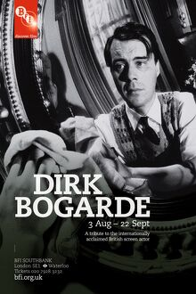 Poster for Dirk Bogarde Season at BFI Southbank (3 Aug - 22 Sept 2011)