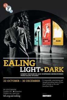 Poster for Ealing Light + Dark Season at BFI Southbank (22 Oct - 30 Dec 2012)