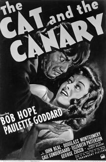 Poster for Elliott Nugent's The Cat and the Canary (1939)