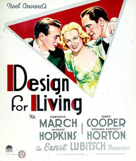 Poster for Ernst Lubitsch's Design For Living (1933)