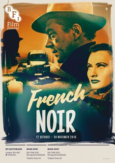 bfi southbank posters/poster french noir season bfi southbank 17 october