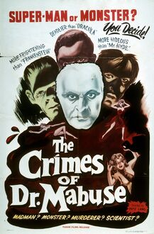 Poster for Fritz Lang's The Crimes of Dr Mabuse (1933)