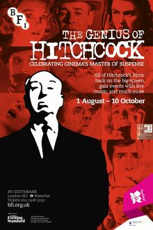 Poster for The Genius Of Hitchcock Season at BFI Southbank (1 August - 10 October 2012)