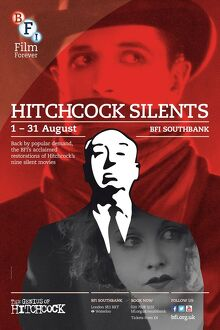 Poster for Hitchcock Silents Season at BFI Southbank (1 - 31 August 2013)
