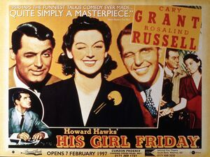 Poster for Howard Hawks' His Girl Friday (1939)
