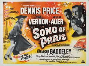 Poster for John Guillermin's Song of Paris (1952)