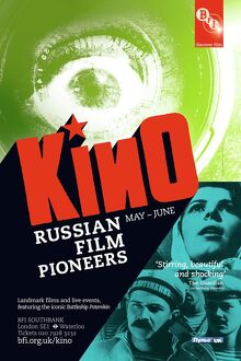 Poster for KINO (Russian Film Pioneers) Season at BFI Southbank (May-Jun 2011)