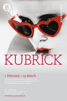 Poster for Kubrick Season at BFI Southbank (1 February to 25 March 2009)