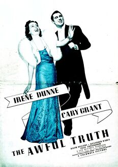 Poster for Leo McCarey's The Awful Truth (1937)