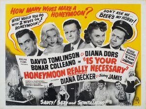Poster for Maurice Elvey's Is Your Honeymoon Really Necessary (1953)
