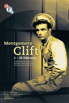 Poster for Montgomery Clift Season at BFI Southbank (1 - 28 February 2013)