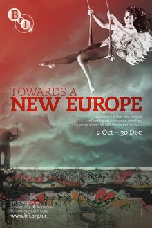 Poster for Towards a New Europe Season at BFI Southbank (2 October to 30 December 2009)