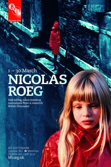 Poster for Nicolas Roeg Season at BFI Southbank (1-30 March 2011)