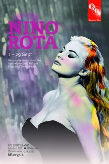 Poster for Nino Rota Season at BFI Southbank (1 - 29 September 2010)
