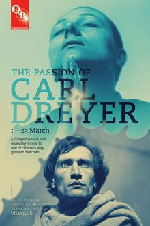 Poster for The Passion of Carl Dreyer Season at BFI Southbank (1 - 23 March 2012)