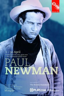 Poster for Paul Newman Season at BFI Southbank (1 - 30 April 2010)