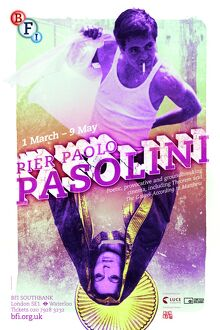 Poster for Pier Paolo Pasolini Season at BFI Southbank (1 March - 9 May 2013)