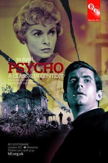 Poster for Psycho Season at BFI Southbank (1 - 30 April 2010)
