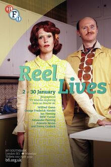 Poster for Reel Lives Season at BFI Southbank (2 - 30 January 2013)