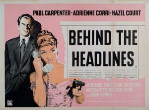 Poster for Richard Rosson's Behind The Headlines (1937)