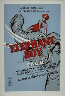 Poster for Robert Flaherty's Elephant Boy (1937)