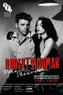 Poster for Robert Siodmak (Prince Of Shadows) Season at BFI Southbank (31 March