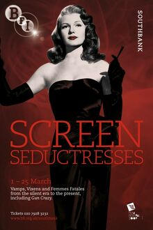 Poster for Screen Seductresses Season at BFI Southbank (1 - 25 March 2009)