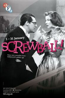 Poster for Screwball Season at BFI Southbank (1 - 31 January 2013)