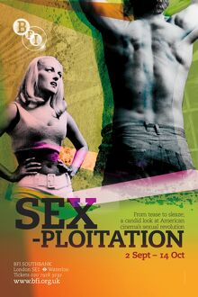 Poster for Sexploitation Season at BFI Southbank (2 September to 14 October 2009)