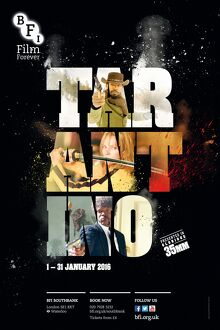 Poster for TARANTINO Season at BFI Southbank (1 - 16 Januray 2016)