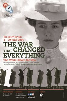 Poster for The War That Changed Everything (The World Before The War) Season at BFI Southbank