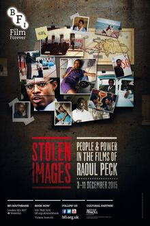 Poster for Stolen Images (People & Power in the films of Raoul Peck) at BFI Southbank