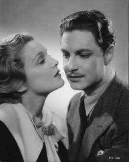 Robert Donat and Madeleine Carroll in Alfred Hitchcock's The 39 Steps (1935)