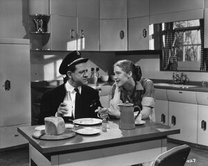 Sid James and Audrey Freeman in Maurice Elvey's Is Your Honeymoon Really Necessary' (1953)