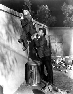 stan laurel and oliver hardy in james parrotts night owls