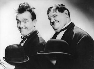Stan Laurel and Oliver Hardy (Laurel & Hardy) in James W Horne's Way Out West (1937)