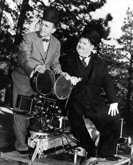 Stan Laurel and Oliver Hardy (Laurel & Hardy) in John G Blystone's Swiss Miss (1938)