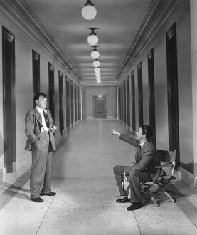 Thomas Mitchell and James Stewart in Frank Capra's Mr Smith Goes to Washington (1939)